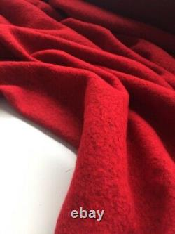 New Red Wool Boucle Taffeta Skirt Suit/Cozy Designer Outfit/Tailored Ladies Set/