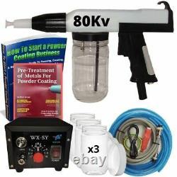 Powder Coating Kit -80kv Home & Business Powder Coating Gun Kit Machine System