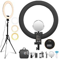 SAMTIAN Ring Light kit 20/50.8cm Outer 60W Adjustable 3200-5500K Color LED Ring