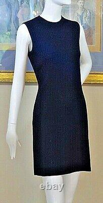 St. John Black Ribbed Knit 2 Piece Outfit Work/Office Dress Size 4 S