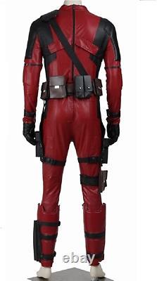 Superhero DP Cosplay PU Costume Deluxe Full Set Jumpsuit Outfit Halloween M