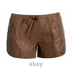 Timber Branded Runner Ladies Leather Shorts Sexy Outfit Size 12 UK XMAS SALE