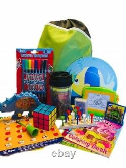 Travel Activity Bag Kit Keep Kids Busy on the Go 6yo & up, Backpack, 16pc Bundle