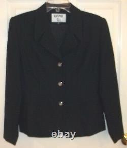 Womens KASPERBLACK BUSINESS SUIT SET8 PETITE 8PNEW2 Pc Outfit Blazer Skirt