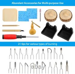 Wood Burning Kit 21 Wire Tips With Ball Tips Dual Wood Burner For Wood & Gourd