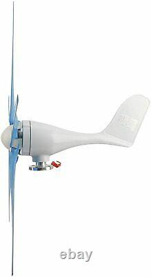 YaeMarine 400W 12V Wind Turbine Businesses 5 Blade Turbine Generator kit (Blue)