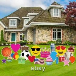 Yard Card Decoration Business 24 Yard Accessory Kit, AC12, Stakes NOT Included