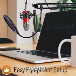 YouTube Video Podcast Vlog Business Kit Pro YouTube Channel Mic Pop Filter Stand