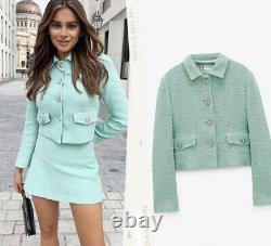 Zara Bloggers Favorite Blazer & Skirt Co Ord Matching Set Outfit Size M BNWT