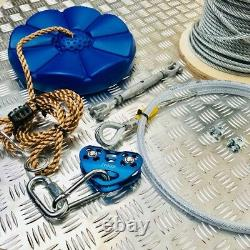 Zip Wire Kits Zip Line Wire Kits Heavy Duty 50 Metres Long, Keep You Kids Busy