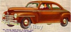 1946-1948 Plymouth P-15 Business Coupe Complète Maître Weatherstrip Kit