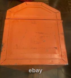 1967 Gulf Nouveau Kit D'outils D'affaires Publicité, Orange & Bleu Boîte À Outils Acier