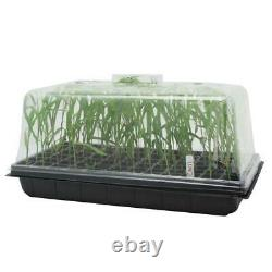 72 Cells Seed Starter Propagation Cit Tray Seedling Plant Clone Greenhouse Dome
