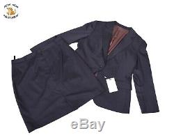 745 Nouvelles Costume Supply Jupe & Blazer Business Suit Outfit Fine Laine Mélange Sz 44 46