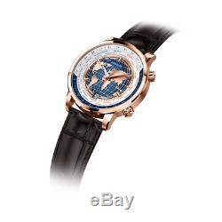 Agelocer Calibre. Un 4610 Hommes Temps Du Monde Des Affaires Mécanique Automatique Luxurywatch