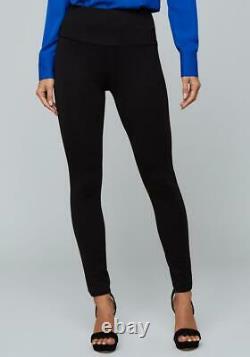 Bebe Suit Outfit 2 Pièces Blazer - Legging Pantalon Ceinture Crêpe Ajustée Noir Nwt S