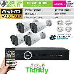 Caméra Ip Nvr Vision Cctv Kit Système De Sécurité Extérieure De Nuit Home Business Bricolage