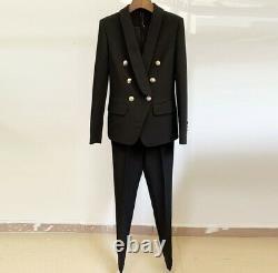 Chic Classique Pantalon Double Veste Blazer Costume Ensemble Tenue Différentes Couleurs