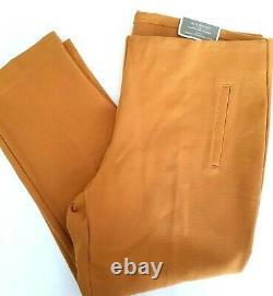 Chico's Beautiful 2 Piece Outfit Outfit Costume Moutarde Orange Pant Sz 3 Blazer Manteau Sz 2