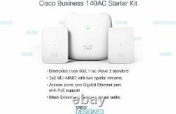 Cisco Business 140ac Kit De Démarrage Mesh Wi-fi Sys 1 Ap + 2 Mesh Cbw140mxs-b-na