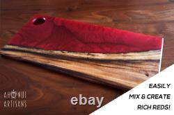 Cristal Clair Epoxy Profond Verser Le Liquide En Verre Couleurs Pigment Kit Table De Bricolage