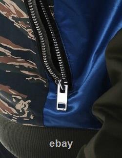 Diesel J-kit-patch Mens Bomber Jacket Taille Grande Très Rare
