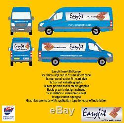 Easyfit Insérer Kit Grand Van Diy Easy Fit Signes Application Décalcomanies D'affaires