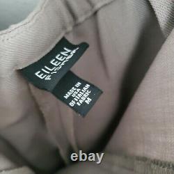 Eileen Fisher Taupe Laine 2 Pièces Pantalon Ensemble V-neck Euc Taille Femme Moyenne