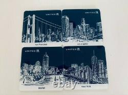 Ensemble De 20 United Airlines Business /first Class Amenity Kits Plus 8 Coasters