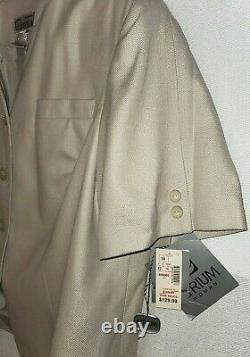 Femme Beige Herringbone Jupe Costume Short Sleeve 2pc Outfit Atrium Taille 18w