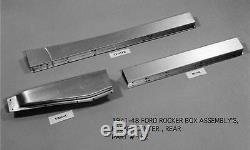 Ford 4d Sedan Coupe D'entreprise Biz Livraison Woody Droit Rocker Box Kit 1941-1948 Ems
