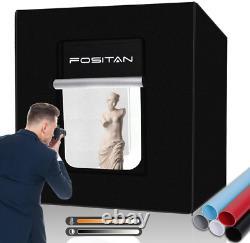 Fositan Light Tent Lightbox 32/80cm Portable Photo Studio Box Kit Avec 2 Led 16
