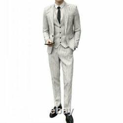 Hommes Tuxedo Outfit British Style 3pcs Costume De Soirée De Mariage D'affaires Robe Mince Nouveau