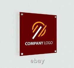 Imprimé Personnalisé Opaque Acrylique Sign Outdoor Office Home Business Sign+hanging Kit
