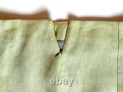 Jupe Haute Taille Green Work Work Outfit Lin Élégant Élégant Ourlet Peplum
