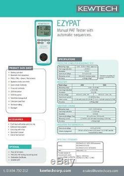 Kewtech Ezypat À Piles Pat Tester Avec Business Kit Pbk101 Kit4z