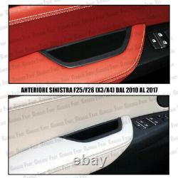 Kit 4 Maniglie Interne Bmw X3 F25 X4 F26 Anteriori + Posteriori Nere Soft-touch