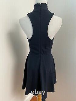 Kit & Ace Monaco Robe Navy Blue Cashmere Wool Sleeveless Fit Flare Sz 2