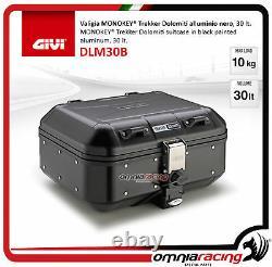 Kit Givi Arrière Top Case Valigia Dlm30b + Plaque Piaggio Mp3 300 Business 20122014