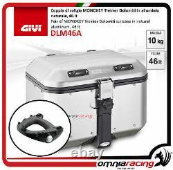 Kit Givi Arrière Top Case Valigia Dlm46a + Plaque Piaggio Mp3 Business 500 20122013