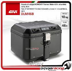 Kit Givi Arrière Top Case Valigia Dlm46b + Plaque Piaggio Mp3 300 Business 20122014