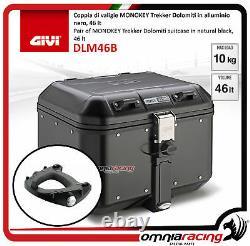 Kit Givi Arrière Top Case Valigia Dlm46b + Plaque Piaggio Mp3 Business 500 20122013