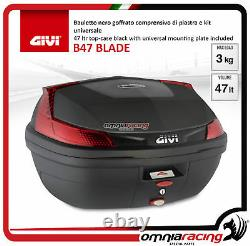 Kit Givi Top Case Maleta B47blade + Placa Piaggio Mp3 300 Business 20122014