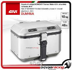 Kit Givi Top Case Valise Dlm46a + Plaque Piaggio Mp3 300 Business 20122014