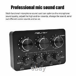 Kit Microfono Profesional Condensador Audio Studio Grabacion + Fuente Alimentación