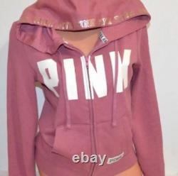 Lot Bling Victoria Secret Rose Begonia Suat Shirt Hoodie + Boyfriend Pant M Set
