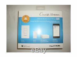 Lutron Pbdgpro Pkg1w Sans Fil Dimmer Pro Smart Kit Pont 120v Blanc Caseta Nouveau