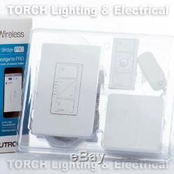 Lutron Pro Wireless Dimmer Kit Caseta Avec Smart Pont P-bdgpro-pkg1w Lampe