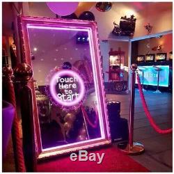 Magic Mirror Party Photo Booth 55inch Entier Kit Pour Les Entreprises Mise En