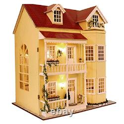 Magqoo 3d Wooden Diy Dollhouse Miniature Kit Diy House Kit With Furniture 3d Box